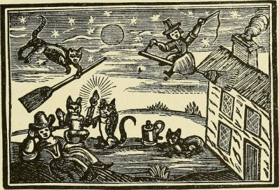 A historical depiction of either witchcraft or eBird birding statistics