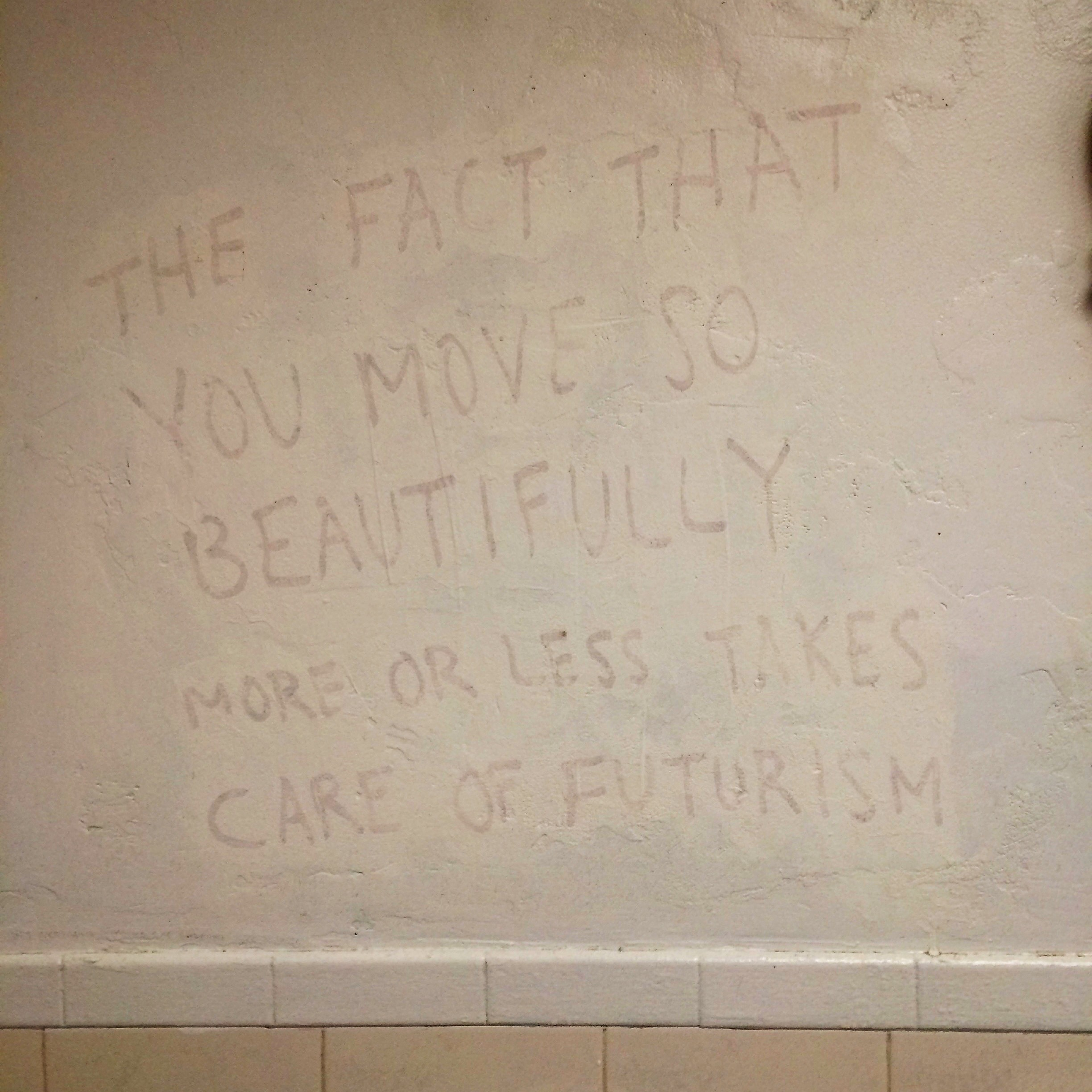 A quote on the wall of Caffe Paradiso in Champaign, IL: